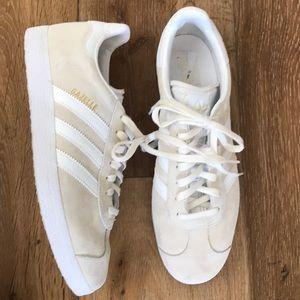 Adidas Gazelle Sneakers in Cream